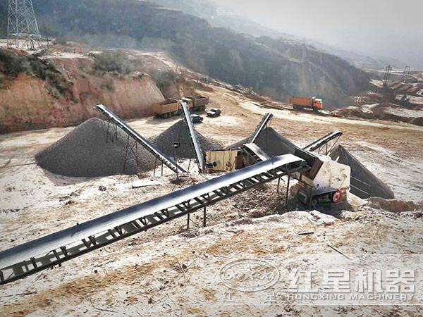 制砂-碎石加工现场